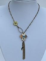 Женский Ожерелья-бархатки Сплав Стразы В форме цветка В форме банта Гипоаллергенный Золотой БижутерияСвадьба Для вечеринок Особые случаи