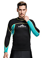Sports Men's 2mm Wetsuit Top Breathable Anatomic Design Compression Sunscreen Neoprene Diving Suit Long Sleeve Tops-Diving Summer Classic