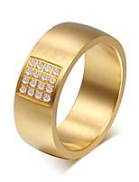 Кольцо Круг Сталь Круглой формы Золотой Бижутерия Для Повседневные 1шт