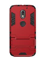 Для Защита от удара со стендом Кейс для Задняя крышка Кейс для Один цвет Твердый PC для Motorola Moto X Play Мото G3 MOTO G4 Мото G4 Plus