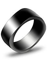 Кольцо Уникальный дизайн Титановая сталь Черный Серебряный Бижутерия Для Повседневные 1шт