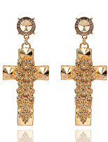 Drop Earrings Crystal Cross Crystal Alloy Geometric Jewelry For Party Daily Casual 1 pair