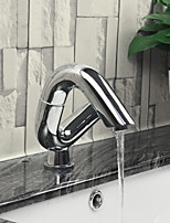 Contemporary Centerset Widespread Rotatable with  Ceramic Valve Single Handle One Hole for  Chrome , Bathroom Sink Faucet