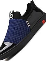 Homme-Extérieure Décontracté Sport-Noir Bleu de minuit Gris-Talon Plat-Semelles Légères-Baskets-Tulle Similicuir