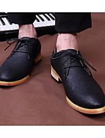 Черный-Для мужчин-Повседневный-Резина-На плоской подошве-С Т-образной перепонкой-Ботинки