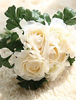 1 Branch Polyester Plastic Peonies Tabletop Flower Artificial Flowers 31