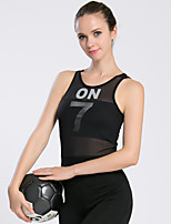 Running Tank Women's Sleeveless Breathable / Thermal / Warm / Quick Dry / Compression / Comfortable Polyester / Elastane Yoga / Running