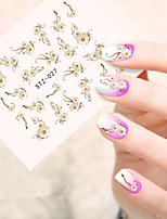 5pcs/set Hot Fashion Nail Art Sticker Sweet Style Beautiful Flower Nail Water Transfer Decals Sweet Flower Design STZ-027