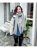 Для женщин На каждый день Зима Блуза V-образный вырез,Простое Пэчворк Длинный рукав,Шерсть Хлопок,Тонкая