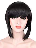 SiYi Anime Ghost In The Shell  Short Straight Wigs Synthetic Fiber Full Wig Cosplay for Women Girls