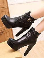 Women's Boots Winter Comfort PU Casual Chunky Heel