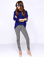 AliExpress Ebay2017 spring and summer deep V back halter long-sleeved round neck T-shirt solid color spot