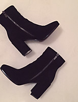Women's Boots Winter Comfort Fleece Casual Chunky Heel Block Heel