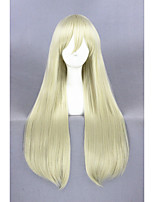 Long Straight fighting boat Wig shimakaze Light Gold Synthetic 32inch Anime Cosplay Wig CS-248A