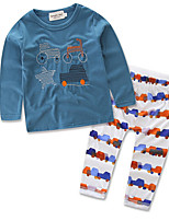 Girls' Casual/Daily Embroidered Sets,Cotton Fall Long Sleeve Clothing Set