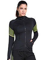 Vansydical® Women's Long Sleeve Running Tops Quick Dry Spring Summer Sports Wear Exercise & Fitness Terylene Slim Fashion