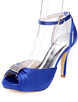 Damen-High Heels-Hochzeit Kleid Party & Festivität-Stoff-Stöckelabsatz-Komfort-Blau