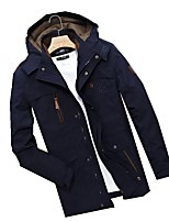 Men's Jacket Thermal / Warm Windproof Spring Gray Black Blue