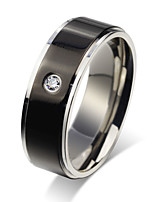 Ring Circle Steel Round Gold Black Jewelry For Daily 1pc