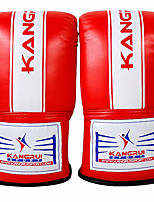 Boxing Gloves for Boxing Mittens Protective PU Black Red