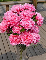 1 Branch Plastic Peonies Floor Flower Artificial Flowers 40*40*70