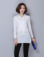 Sign shirt 2016 Hitz Korean Slim and long sections bottoming lace blouse tide
