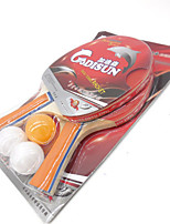 1 Star Ping Pang/Table Tennis Rackets Ping Pang Wood Long Handle Pimples Indoor Performance Practise Leisure Sports-#