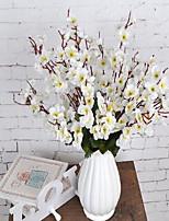 1 Branch Plastic Plum Tabletop Flower Artificial Flowers