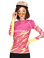 Deportes Mujer Resistente a los UV Filtro Solar Elastán Terileno Traje de buceo Mangas largas Trajes de buceo-Buceo Playa Surfing Velero