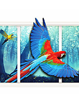 Color Parrot 3D Sitting Room The Bedroom Decorates A Wall Post