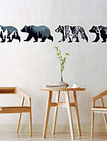 Animals Wall Stickers Plane Wall Stickers Decorative Wall StickersVinyl Material Home Decoration Wall Decal Polar Bear