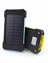 10000mAhPower Bank Внешняя батарея Зарядка от солнца Несколько разъемов Подсветка Защита от влаги 10000 3100Зарядка от солнца Несколько