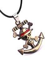 Más Accesorios Inspirado por One Piece Cosplay Animé Accesorios de Cosplay Dorado Aleación Cuero