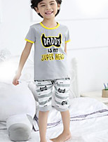 Boys' Casual/Daily Geometric Sets,Cotton Summer Clothing Set
