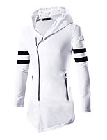 Men's Casual/Daily Sports Hoodie Color Block Shirt Collar Micro-elastic Cotton Long Sleeve Spring Fall