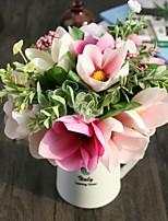 1 Ramo Poliéster Plástico Azaléia Flor de Mesa Flores artificiais 30