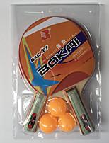 2 étoiles Ping Pang/Tennis de table Raquettes Ping Pang Bois Long Manche Boutons Intérieur Utilisation Exercice Sport de détente-#