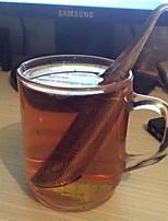 1pcs filtro surpreendente chá de aço inoxidável infuser tubo design toque sentir boa ferramenta de chá