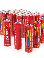 Lingli aa cardon цинковая батарея 1.5v 40 pack