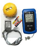 Détecteur de Poissons Etanches LED CE Portable Lumière blanche On/Off Sans-Fil 2×AAA Plastique dur Alose jaune