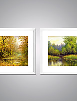 Framed Canvas Prints  Spring and Autumn Forest Painting Picture Print on Canvas  Tree Paintings  for Decoration