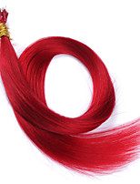 Hot Color #Red Nano Tip Hair Extensions For Women 10A Peruvian Remy Human Hair Keratin Fusion Hair Extensions Nano Tip Hair 100 Strands 1g/Strand