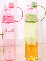 2Pcs Novelty Outdoor Drinkware 501-600 ml Portable Reusable Plastic Water Water Bottle