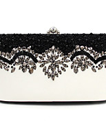 L.WEST Woman Fashion Diamonds Pearl Evening Bag