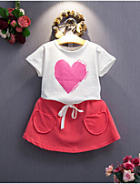 Girls' Casual/Daily Print Sets,Cotton Rayon Summer Sleeveless Clothing Set