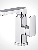 Moderne Set de centre large spary with  Soupape céramique Mitigeur un trou for  Chrome , Robinet lavabo