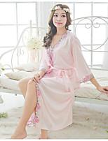 Women Babydoll & Slips Nightwear,Retro Solid-Thin Polyester Ice Silk Women's