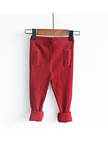 Pantalons Fille Décontracté / Quotidien Couleur Pleine Coton Eté Printemps Automne
