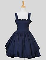 Una Sola Pieza/Vestidos Amaloli Rococó Cosplay Vestido  de Lolita Un Color Sin Mangas Hasta la Rodilla Vestido Para Algodón