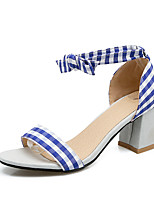 Sandals Spring Summer Fall Club Shoes Fabric Office & Career Party & Evening Dress Chunky Heel Bowknot